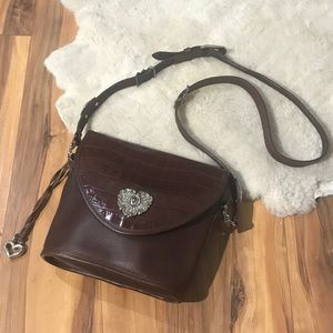 Vintage 1994 Brighton Heart Brown Leather Purse
